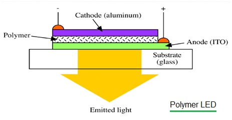 Polymer LED Structure