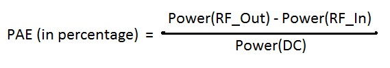 RF Amplifier PAE Equation
