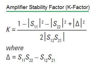 RF k-factor or stability factor Formula