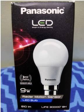 Radar Motion Sensor LED Bulb