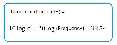 Radar Target Gain Factor