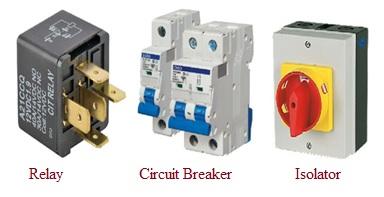 Relay vs Circuit Breaker vs Isolator