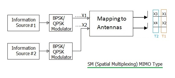 SM-Spatial Multiplexing MIMO type