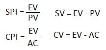 SPI CPI SV CV