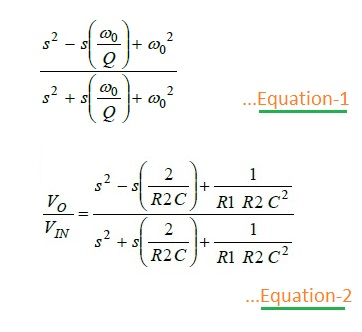 Second Order APF Design Equations