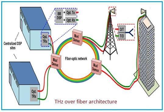 THz over fiber architecture