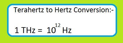 THz to Hz converter equation