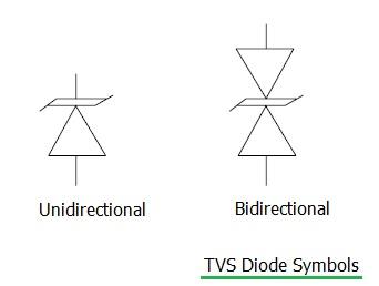 TVS diode symbols