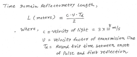 Time Domain Reflectometry length equation