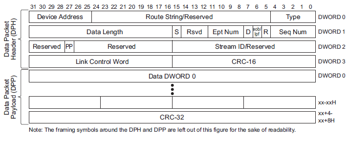 USB DP Packet Format