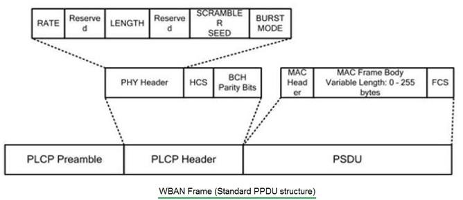 WBAN frame