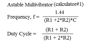 astable multivibrator formula1