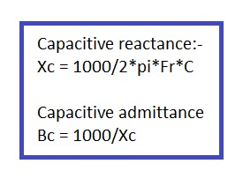 capacitive reactance calculator formula