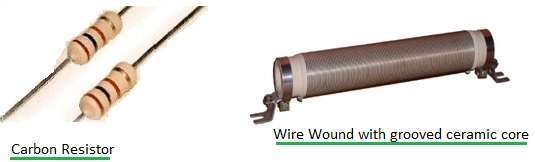 carbon resistor vs wire wound resistor