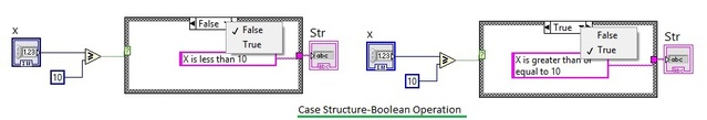 case structure boolean operations in labview