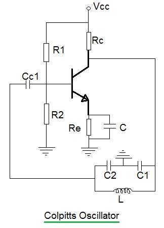 Oscillator Types Wein Bridgecolpittsclappscrystal Oscillator