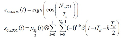 cosine BOC modulation equations