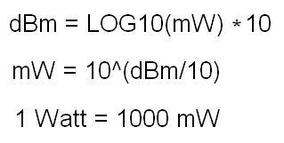 dBm to Watt converter