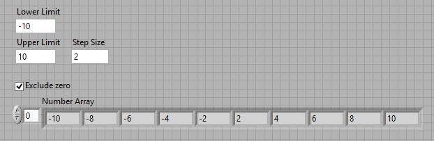 Decimal number generator labview vi front panel