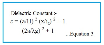 dielectric constant calculation