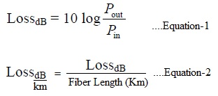 fiber optic loss formula