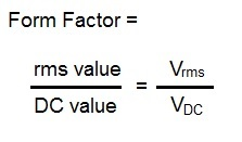 form factor formula,equation