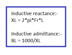inductive reactance calculator formula