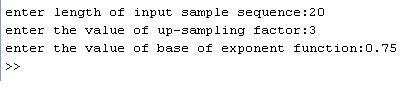 Interpolation matlab code input