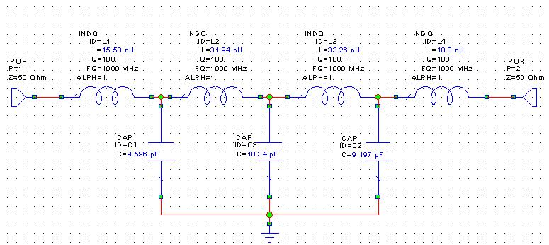 Lumped Element LPF circuit