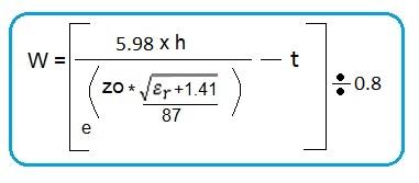 microstrip width formula
