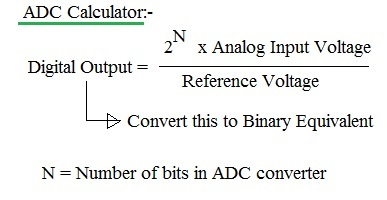 n-bit ADC conversion formula,equation