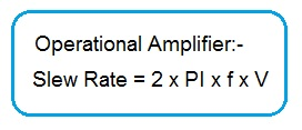op amp slew rate formula