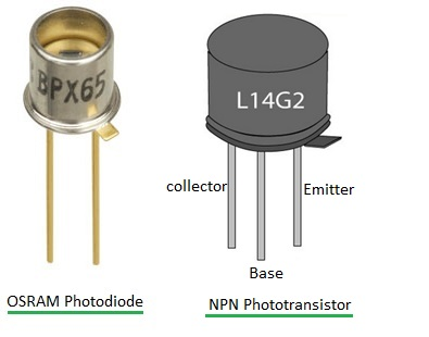 photo diode and photo transistor