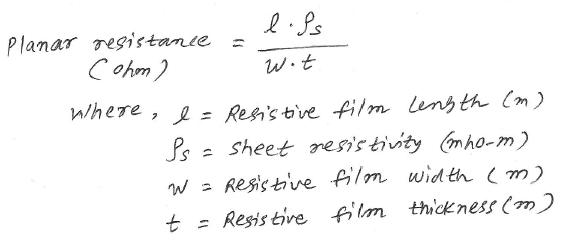 planar resistance equation
