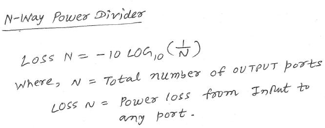 power divider calculator equation