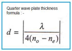 quarter wave plate thickness formula