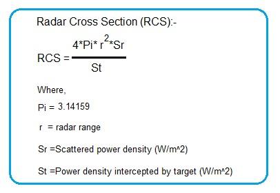 radar RCS formula