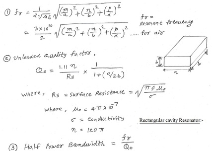 Rectangular cavity resonator calculator | converters and