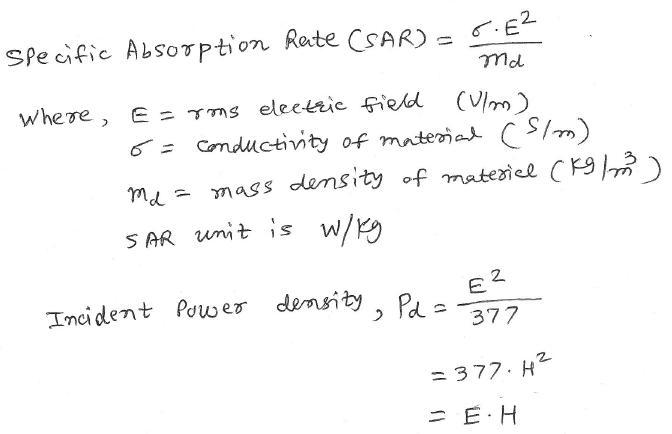 RF exposure calculator equation