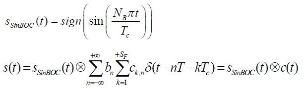 sine BOC modulation equations