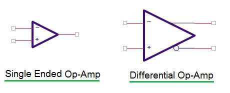 single ended and differential circuit symbol