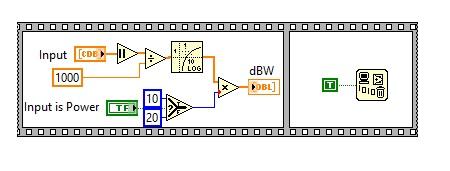 volt to dBm converter labview vi