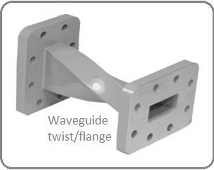 waveguide twist or waveguide flange