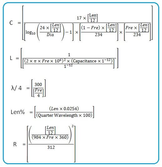 Whip antenna calculator | monopole antenna calculator