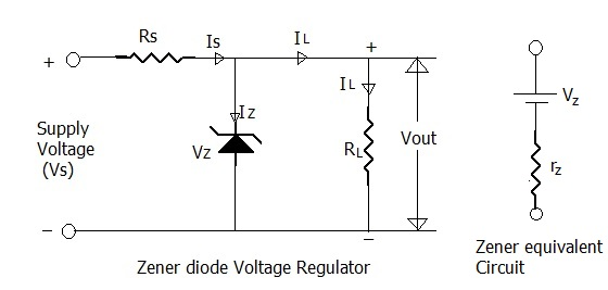 zener diode as voltage regulator